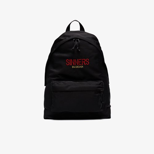 Balenciaga Bal Explorer Sinners Backpack Black C3ZjLh3R