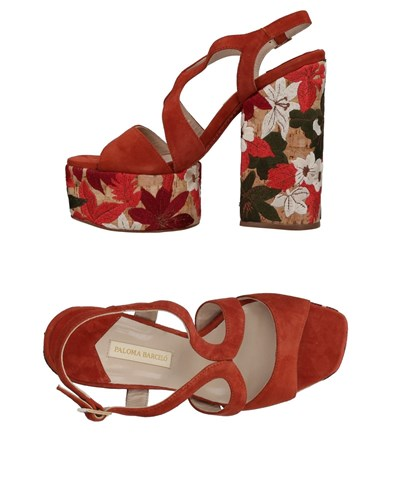 Paloma Barceló Sandals Rust 51A53tO