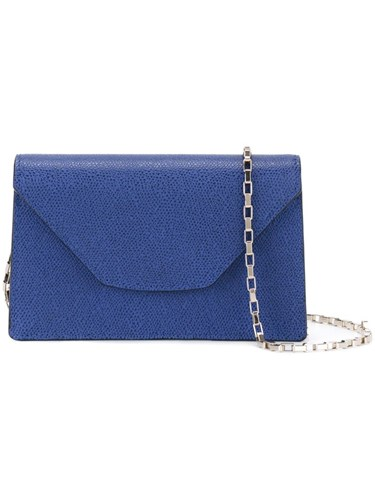 Valextra Mini 'Iside Chain' Crossbody Bag Blue kg9IeHQ