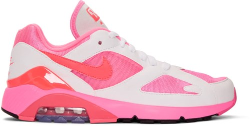 Comme des Garcons Homme Plus White And Pink Nike Edition Air Max 180 Sneakers HkpG5eN0PH