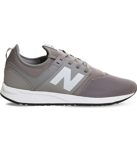New Balance 247 Low Top Mesh Trainers Grey White Classic H2Y9d7