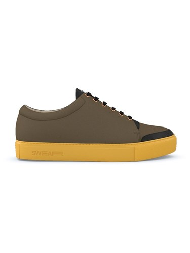 Swear Marshall Fast Track Customisation Calf Leather Nappa Leather Suede Rubber Brown 1WqasaDN