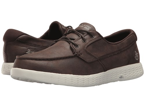 Skechers Performance On The Go Glide Harbor Chocolate Lace Up Casual Shoes Brown 8LU9s
