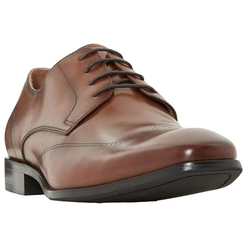 Dune Puyol Punch Hoe Derby Shoes Tan JGI7uucu