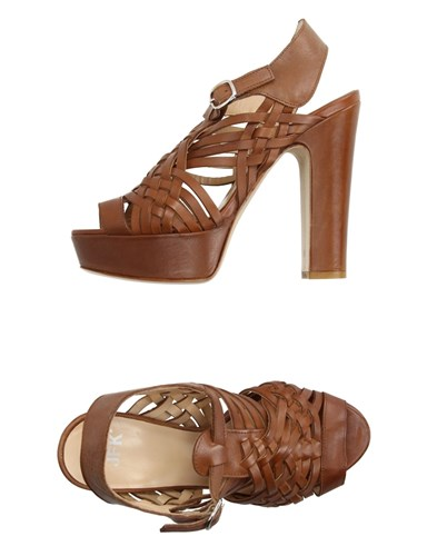 JFK Sandals Brown yy81Tr7