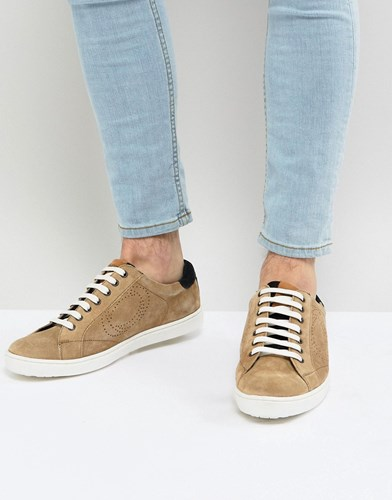 Base London Wafer Suede Trainers In Stone ODbExX