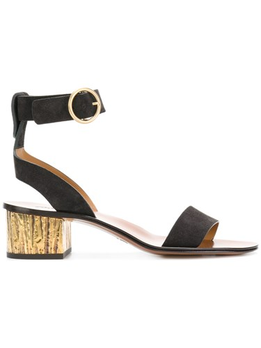 Chloé Block Heeled Sandals Black CAeibj