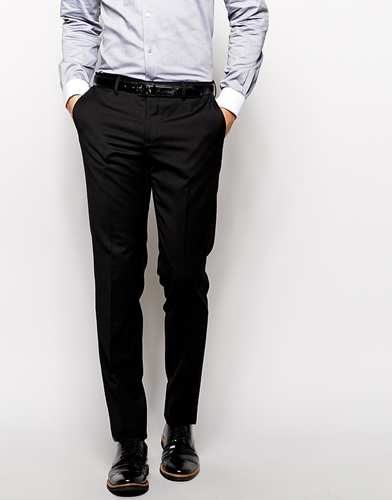 Slim Fit Black Suit Trousers