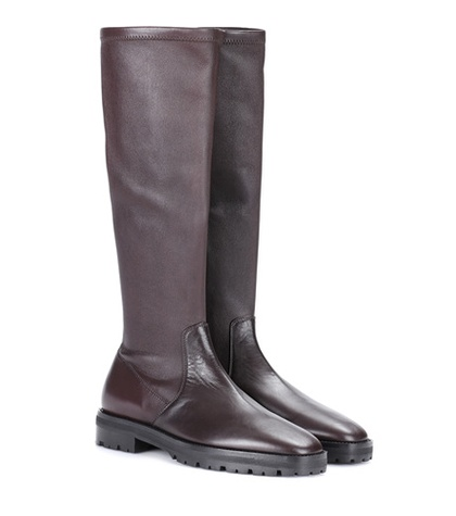 The Row Fiona Leather Boots Brown OPEPayG4