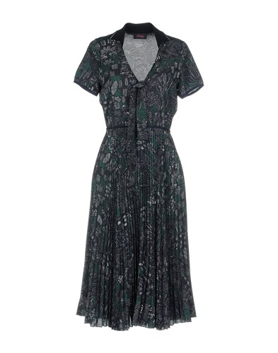 Ottod'ame Knee Length Dresses Dark Blue mFAsI