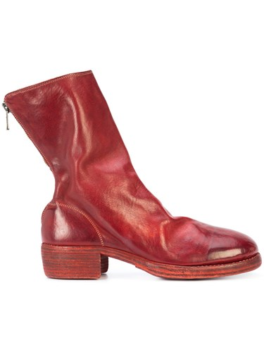Guidi Zip Up Boots Horse Leather Red oo5Ai