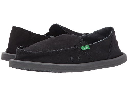 Sanuk Donna Daily Black Women's Slip On Shoes enrDXbfotl