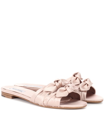 Tabitha Simmons Cleo Satin Sandals Pink coVkNx