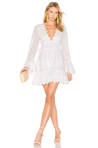Majorelle Western Ridge Dress White KwKWzgxQ