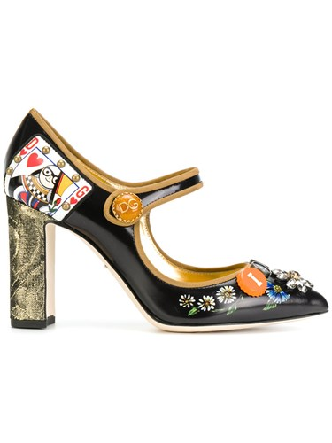 Bellucci Gabbana Leather Pumps Dolce Polyester amp; Jane Mary z78Tnx