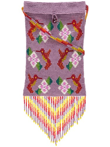 Jessie Purple And Pouch Beaded Pink Western Hummingbird SqwrS