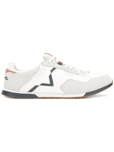 Diesel Fury Sneakers Men Leather Suede Polyurethane Rubber 42 White fMehLxV
