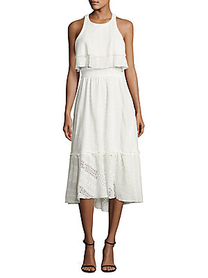 Eyelet Kaleigh Egg Cotton amp; Pure Cutout Dress Poetry Prose qRwftWWv