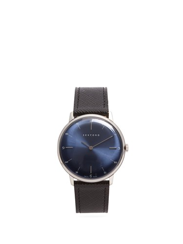Type 1A Stainless Steel And Saffiano Leather Watch Black Navy