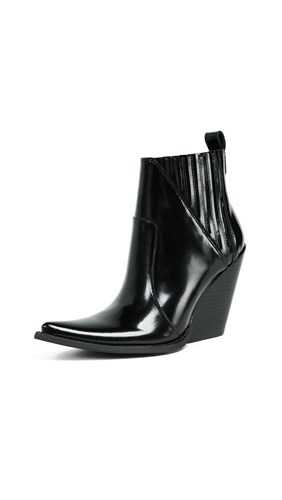 Jeffrey Campbell Homage Point Toe Booties Black Box XWA4c