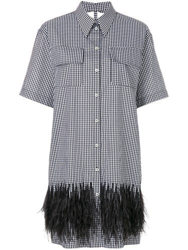 Black Dress No21 Shirt Ostrich Cotton Check Feather N°21 Zq0wxnBB