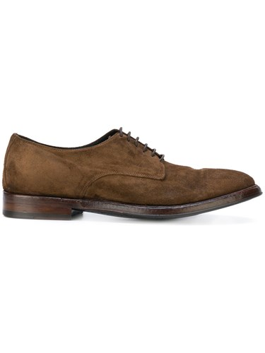 Alberto Fasciani Lace Up Derby Shoes Leather Suede Rubber Brown egJQF