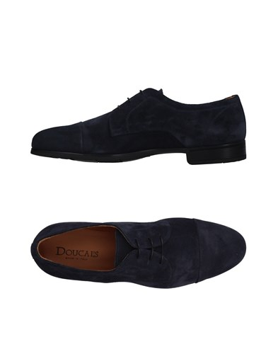Doucal's Lace Up Shoes Dark Blue TDZwztD4