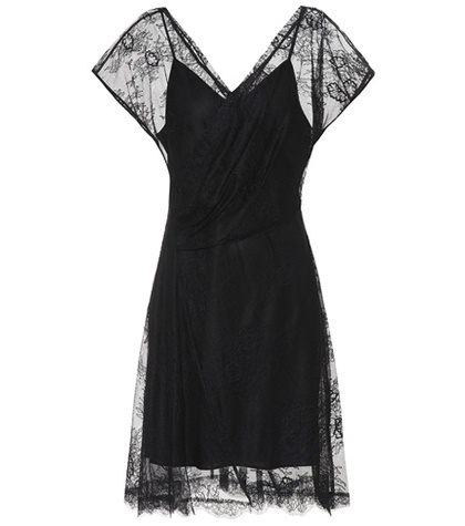 Diane von Furstenberg Lace Dress Black BVO2W