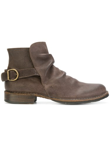 Fiorentini + Baker Espot Sq Eternity Ankle Boots Leather Rubber Brown FDg8KNJ5Qs