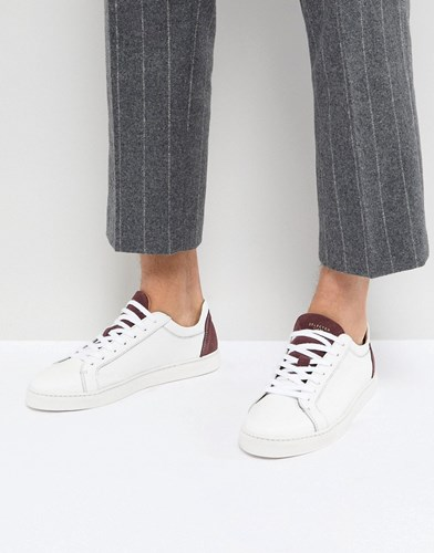 Selected Homme Premium Trainer With Suede Heel White nzhke0uRm