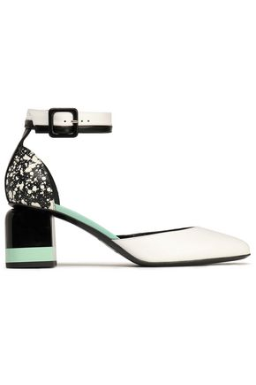 Pierre Hardy Printed Leather Pumps White y8rQU3