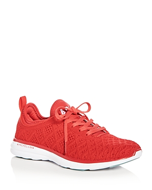 Apl Athletic Propulsion Labs Women's Phantom Techloom Knit Lace Up Sneakers Red White UFGg3Ks
