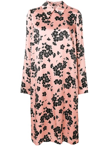 Rochas Floral Print Dress Pink And Purple qAyXI6HOW
