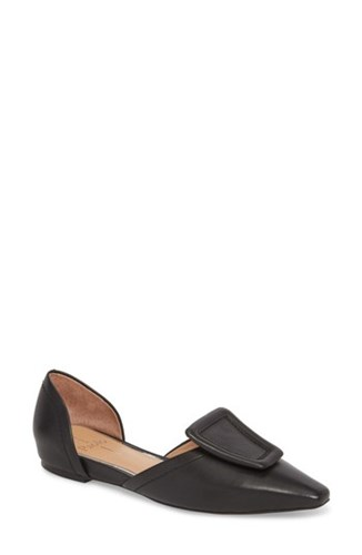 D'orsay Black Linea Sophie Flat Leather Paolo ETfZfqwSn