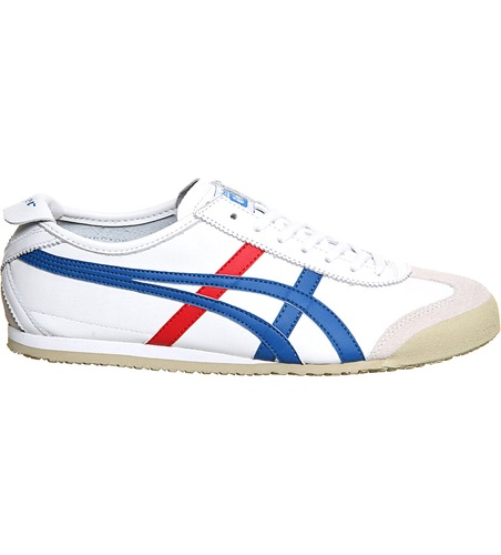 Onitsuka Tiger by Asics Mexico 66 Leather Trainers Whtredblue BTDTG6aHg