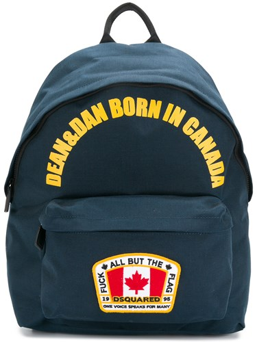 DSquared Dsquared2 Dean And Dan Born In Canada Backpack Blue tDZNKiptY