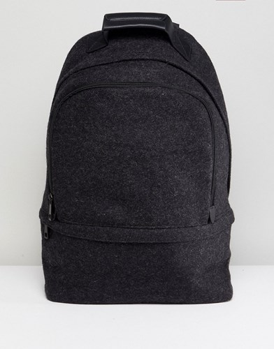 Asos Backpack In Charcoal Melton Grey Hqwukr