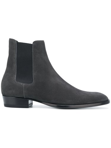 Saint Laurent Wyatt Boots Grey hXccM
