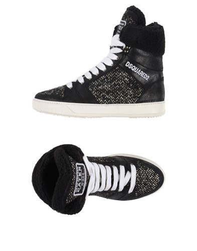 DSquared Dsquared2 Footwear High Tops And Sneakers Black gKpmFC1c2B