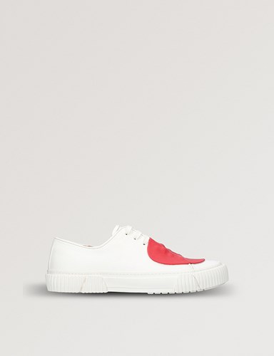 Red Leather Rubber White Trainers Detail BOTH dwXTqEw