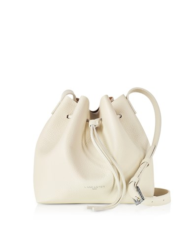 Lancaster Paris Handbags Beige Grainy Leather Bucket Bag JX1DQ