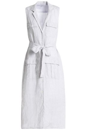 James Perse Striped Linen Shirt Dress Off White Off White s5MurE