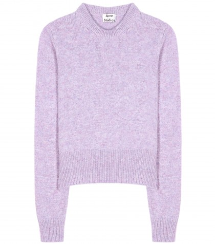 Acne Studios Henrietta Wool Sweater Purple | Nuji