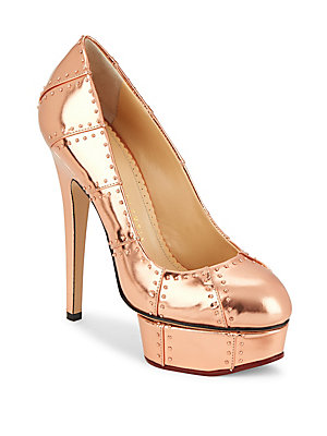Charlotte Olympia Industrial Pris Platform Leather Pumps Copper nS0z7x