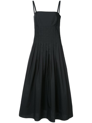 Rosetta Getty Pleated Camisole Dress Black OrwLTwv