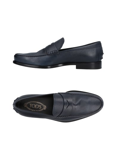 Tod's Dark Dark Tod's Blue Loafers Loafers Blue Tod's Blue Dark Loafers xqIABnw1zZ
