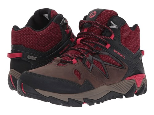 Merrell All Out Blaze 2 Mid Waterproof Cinnamon Shoes Burgundy v312zmaPsR