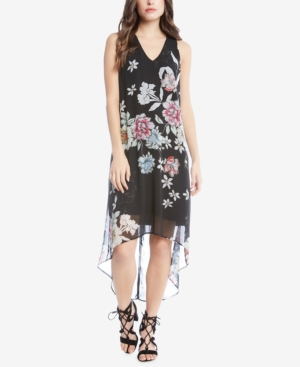 Karen Kane Floral Print High Low Dress V0MZq1IJd