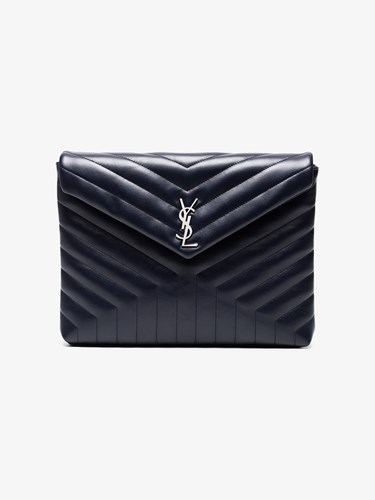Saint Laurent Blue Lou Lou Leather Document Holder aErAkQmTx