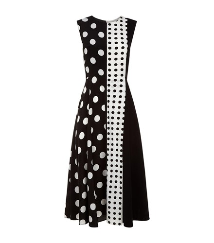 Sportmax Erio Polka Dot Dress Black Y64dooMJ